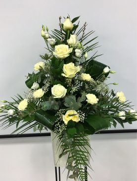Cream Pedestal Arrangement