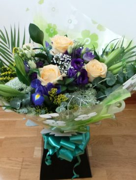 Rose and Lily Aqua Bouquet