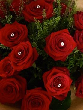 Stunning Red Roses Fresh Floral Bouquet