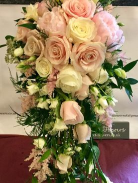 Beautiful Bridal Cascading Bouquet